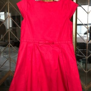 Jacadi Fuchsia Dress with a Bow Size 4T